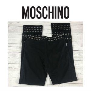 Moschino Black Studded Jeans. Sz 4